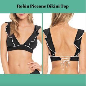 NEW Robin Piccone Malia Ruffle Bikini Swim Top